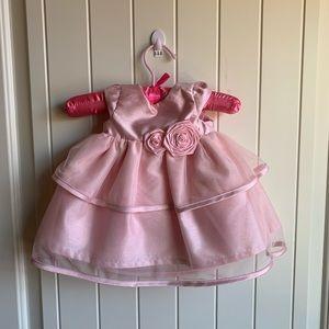 Newborn Carter's pink holiday/celebration dress